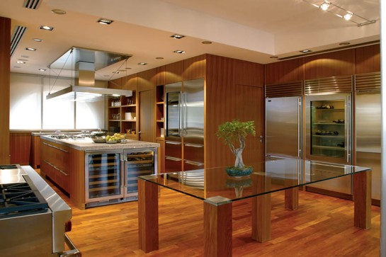 Stainless kitchen, designed for entertaining