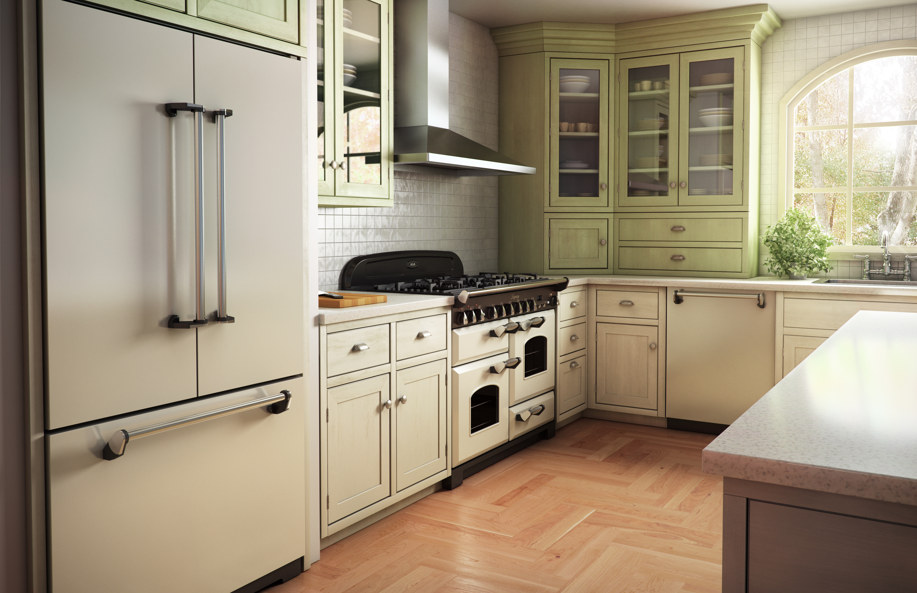 Bisque Appliances Kitchen Design