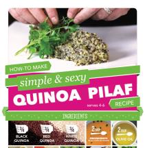 Quinoa Pilaf Recipe Infographic