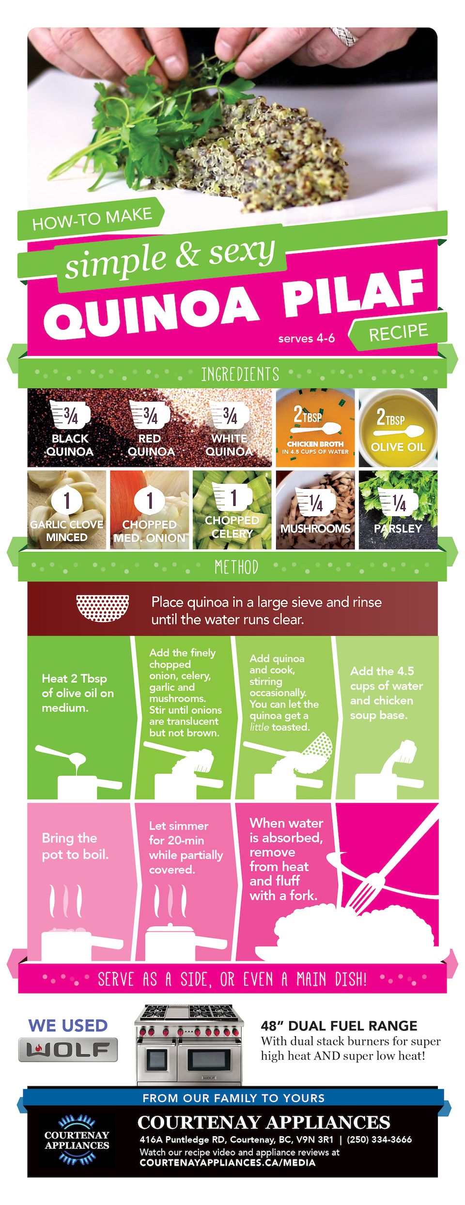 Quinoa Pilaf Recipe Infograph