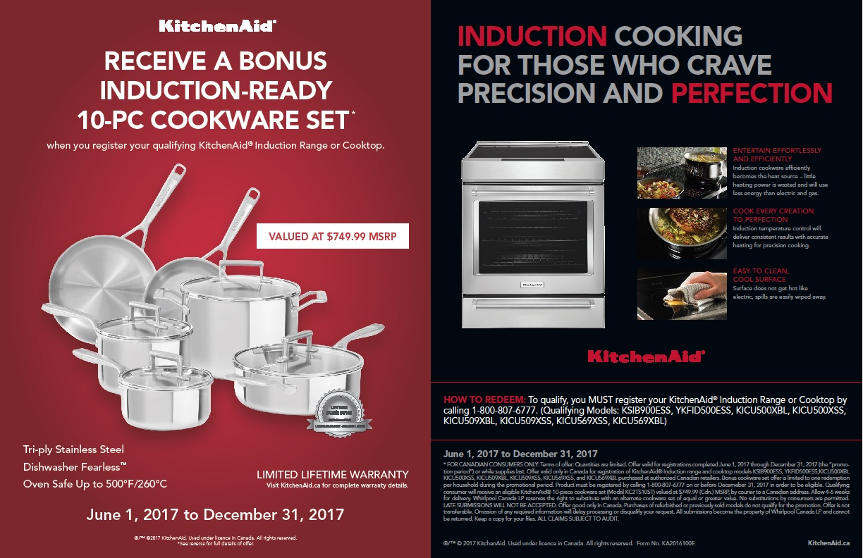 Kitchen Aid Bonus Induction Cookware – COURTENAY APPLIANCES